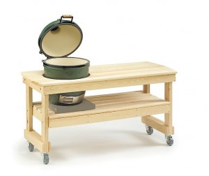Holztisch für den Big Green Egg Medium