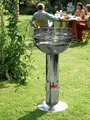 Grillen mit dem Holzkohlegrill Optima Inox Edelstahl