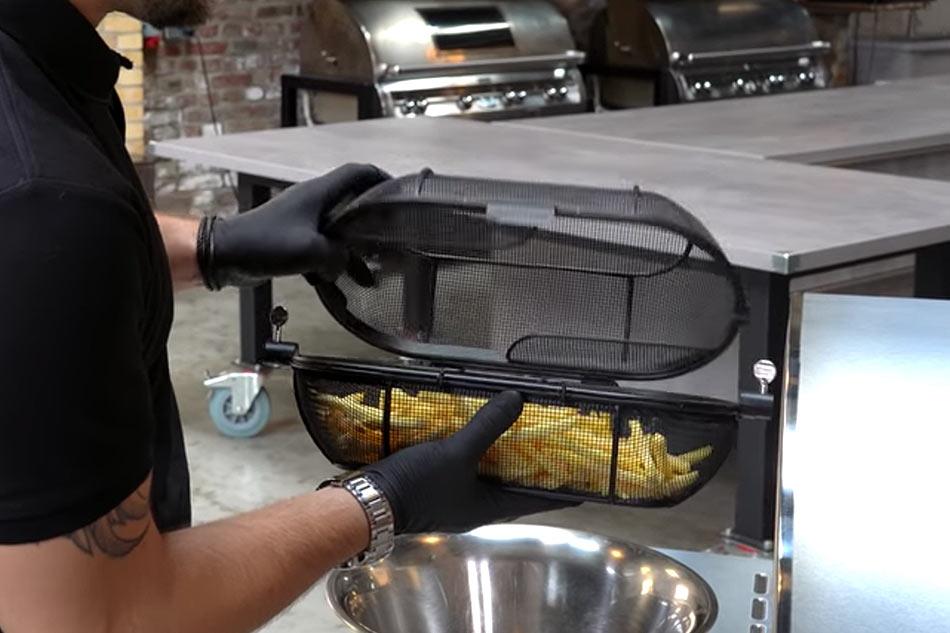 Weber Holzkohlegrill Drehspieß : Santos drehspieß körbe pommes popcorn fisch auf der gasgrill