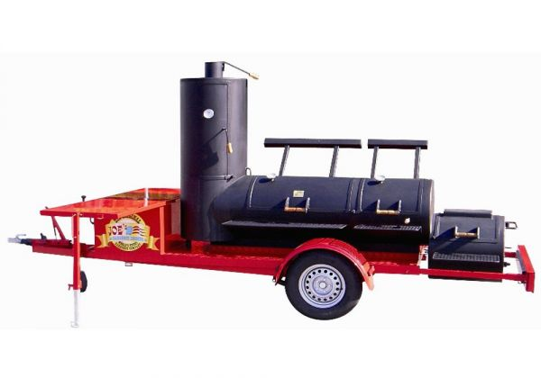"""Joe's Barbeque 24"""" Extended Catering Smoker Trailer"""