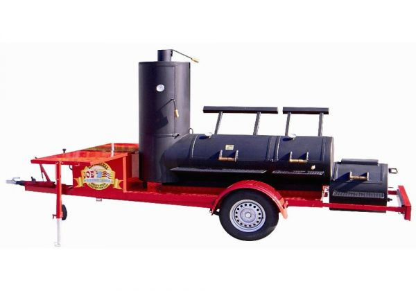 "Joe's Barbeque 36""Extended Super Caterer Smoker Trailer"